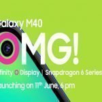 Samsung Galaxy M40 with Punch-hole Display is set to Launch in India on June 11 on Amazon